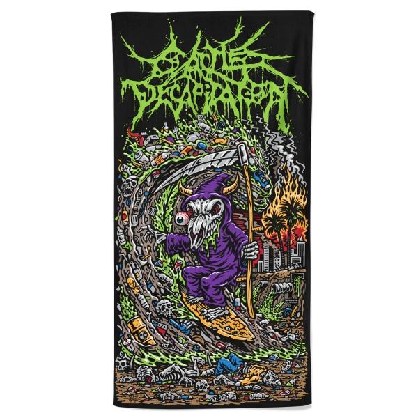 Grim Ripper Beach Towel