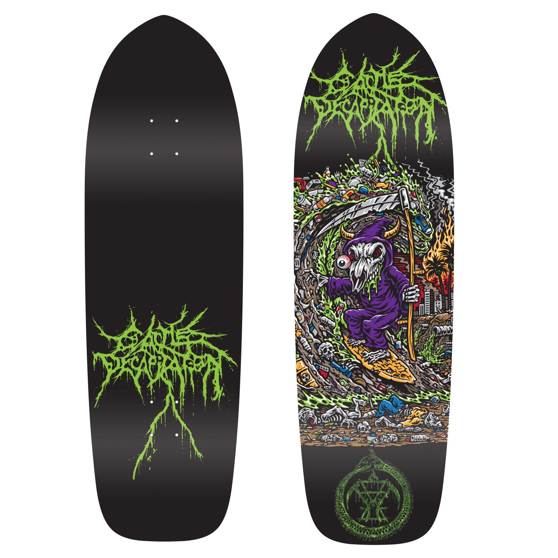 Grim Ripper Old School Skate Deck