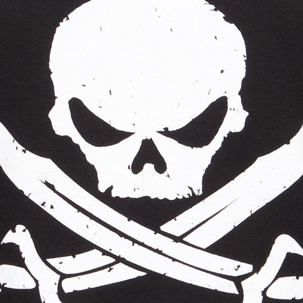 Pirate Logo White on Black