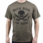 Pirate Logo Black on Military Green