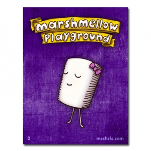 marshmellow playground girl sticker