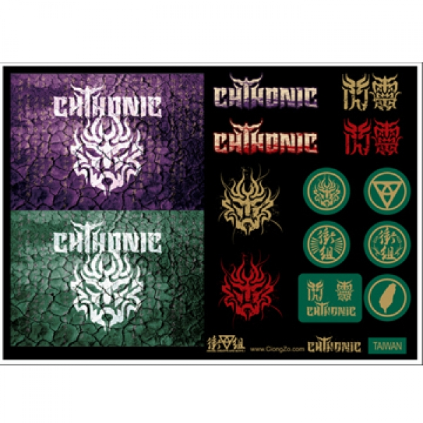 CHTHONIC stickers A4 set #1