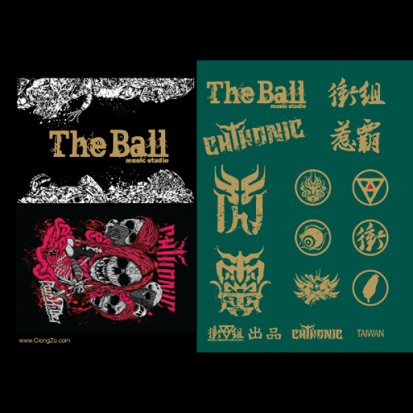 CHTHONIC stickers A4 set #2