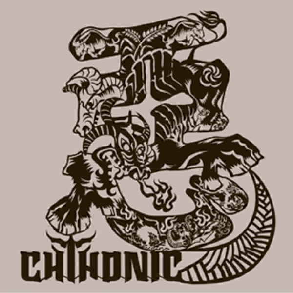 CHTHONIC Demon Bulls sticker-Gray