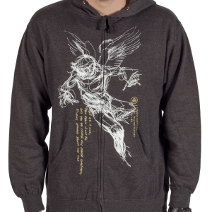 Falling Feather Zip-Up Hoodie