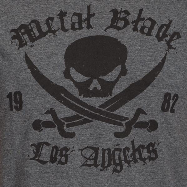 Pirate Logo Black On Dark Heather
