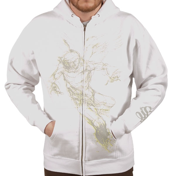 Falling Feather White Hoodie
