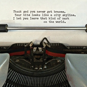 Typewriter Poem Magnet (Thank God)