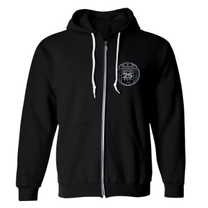 25th Anniversary Sew On Patch Zip Up