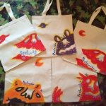 Handpainted Tote by Yellow