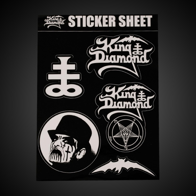 King Diamond Sticker Sheet