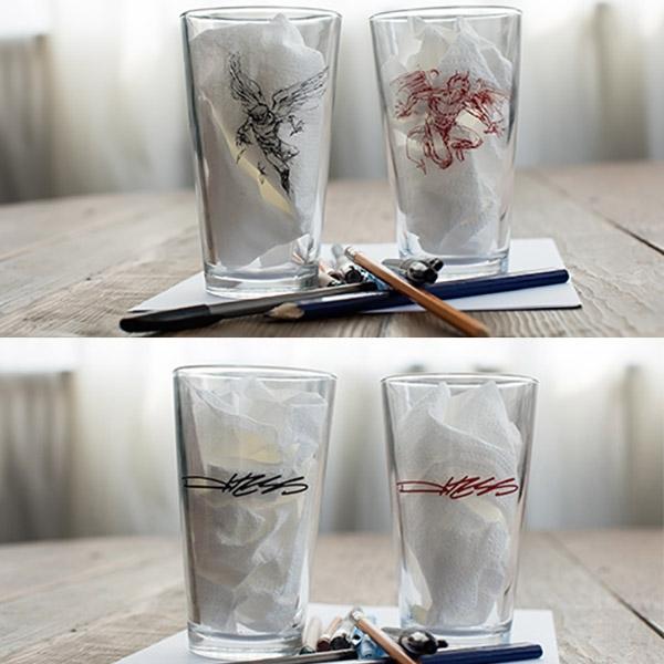 Good & Evil Pint Glasses