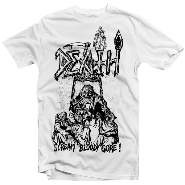 Scream Bloody Gore Line Art (White)