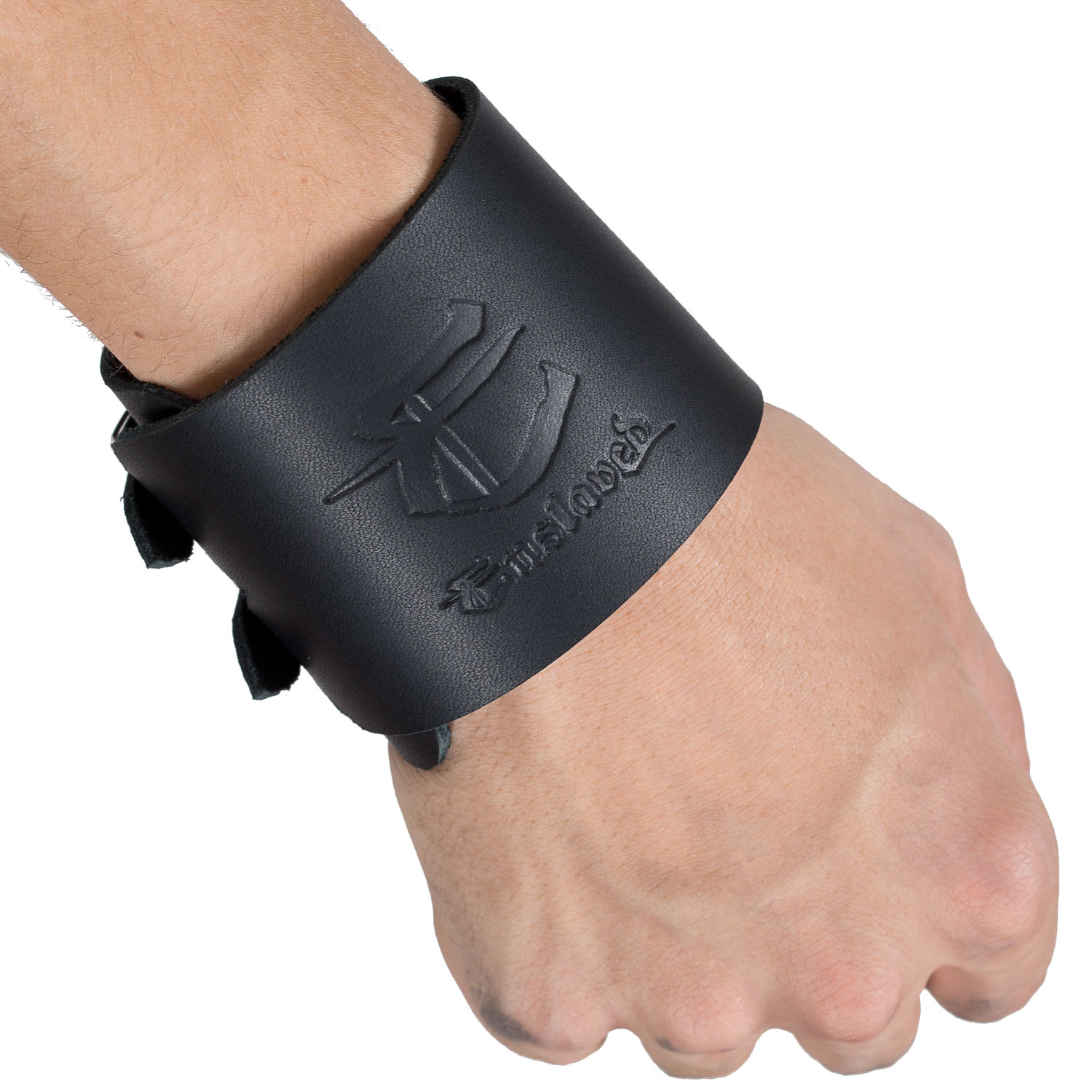 E Leather Wristband