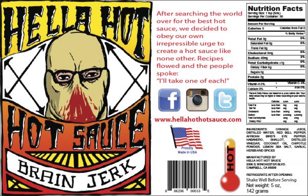 Brain Jerk Hot Sauce (by Hella Hot)