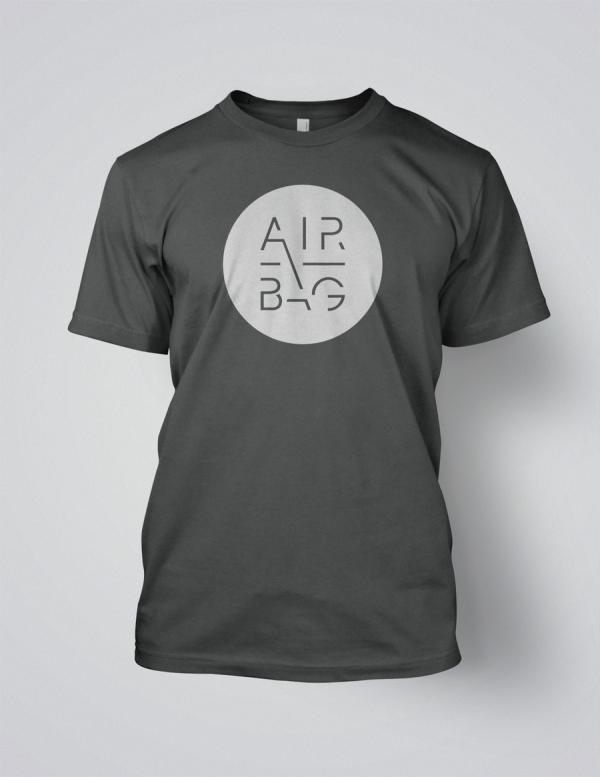Airbag white logo t-shirt