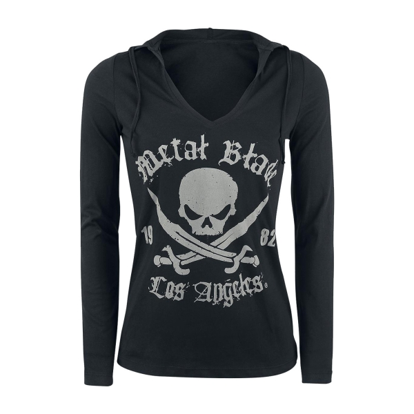 Pirate Logo - V-Neck Hooded Longsleeve