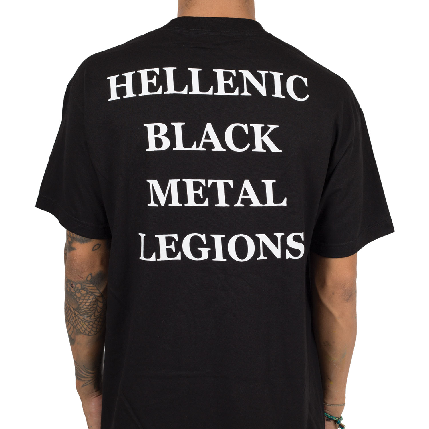 Hellenic Black Metal Legions T-shirt Rotting Christ Herrenmode Kleidung & Accessoires