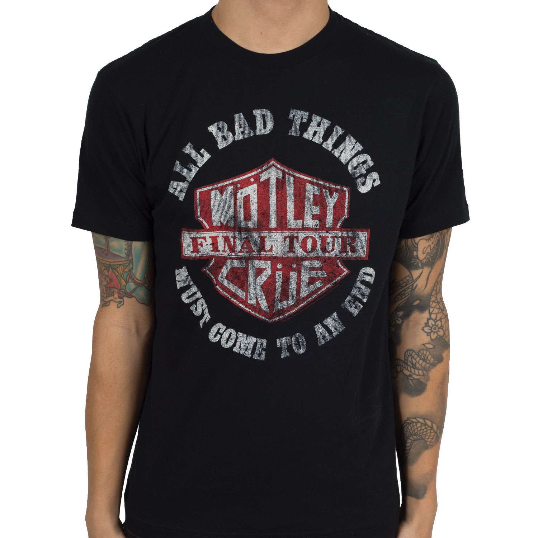 Motley Crue Rock And Roll 1987 Band Tour Logo Youth Toddler T-Shirt Tees Tshirts