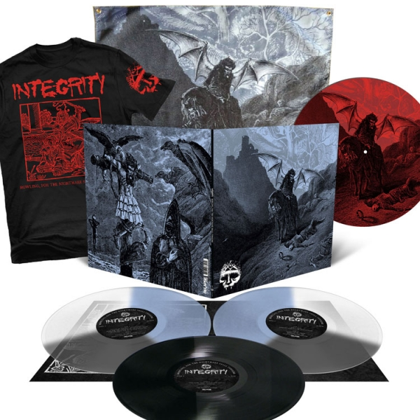 Howling, For The Nightmare Shall Consume Deluxe 3LP + T Shirt + Flag + Double-Sided Slipmat Bundle