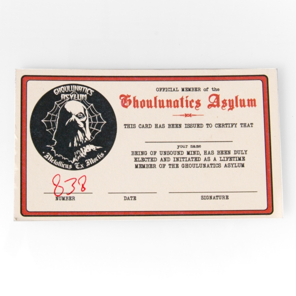 Ghoulunatics Asylum Fan Club Package