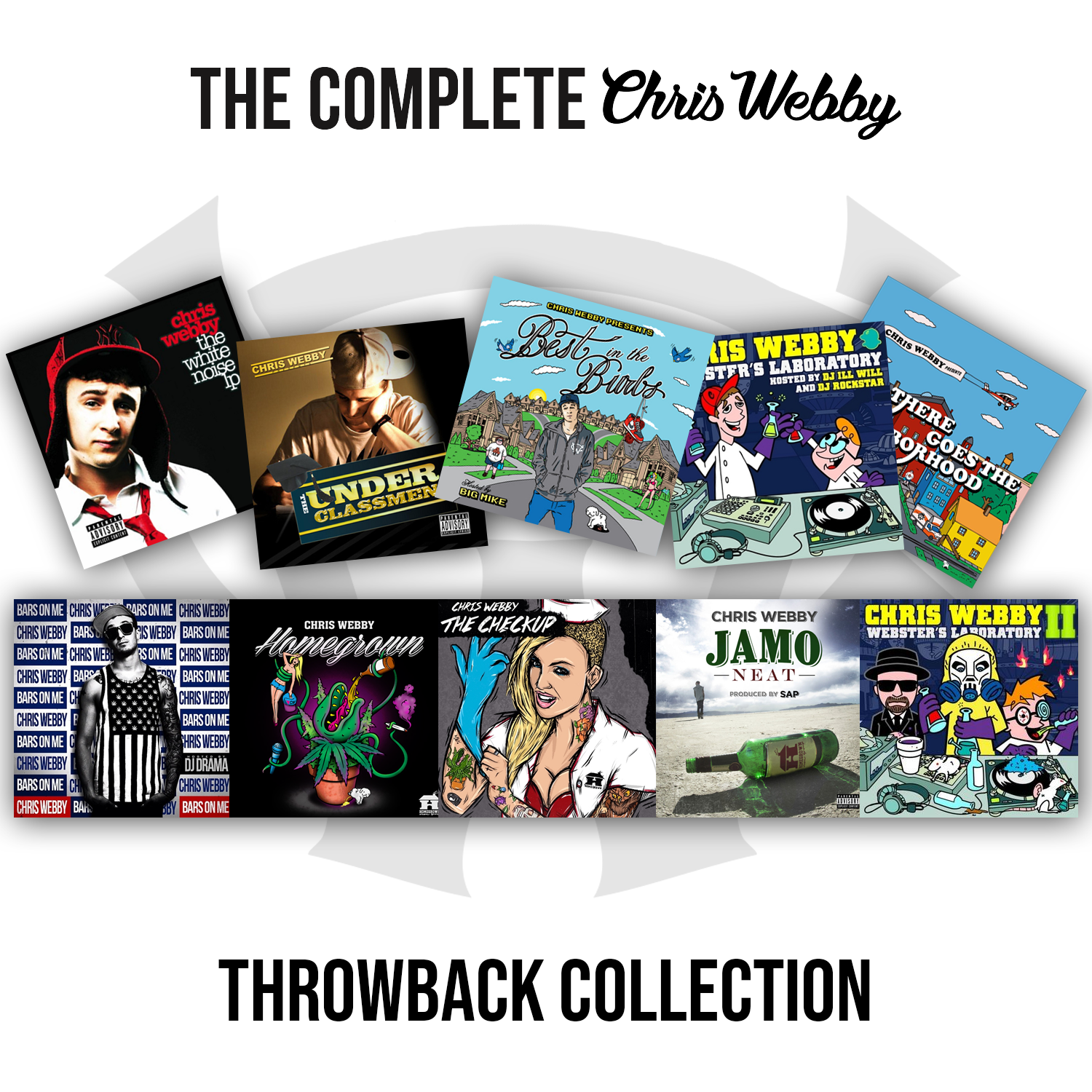 The Complete Chris Webby Signed CD Throwback Collection