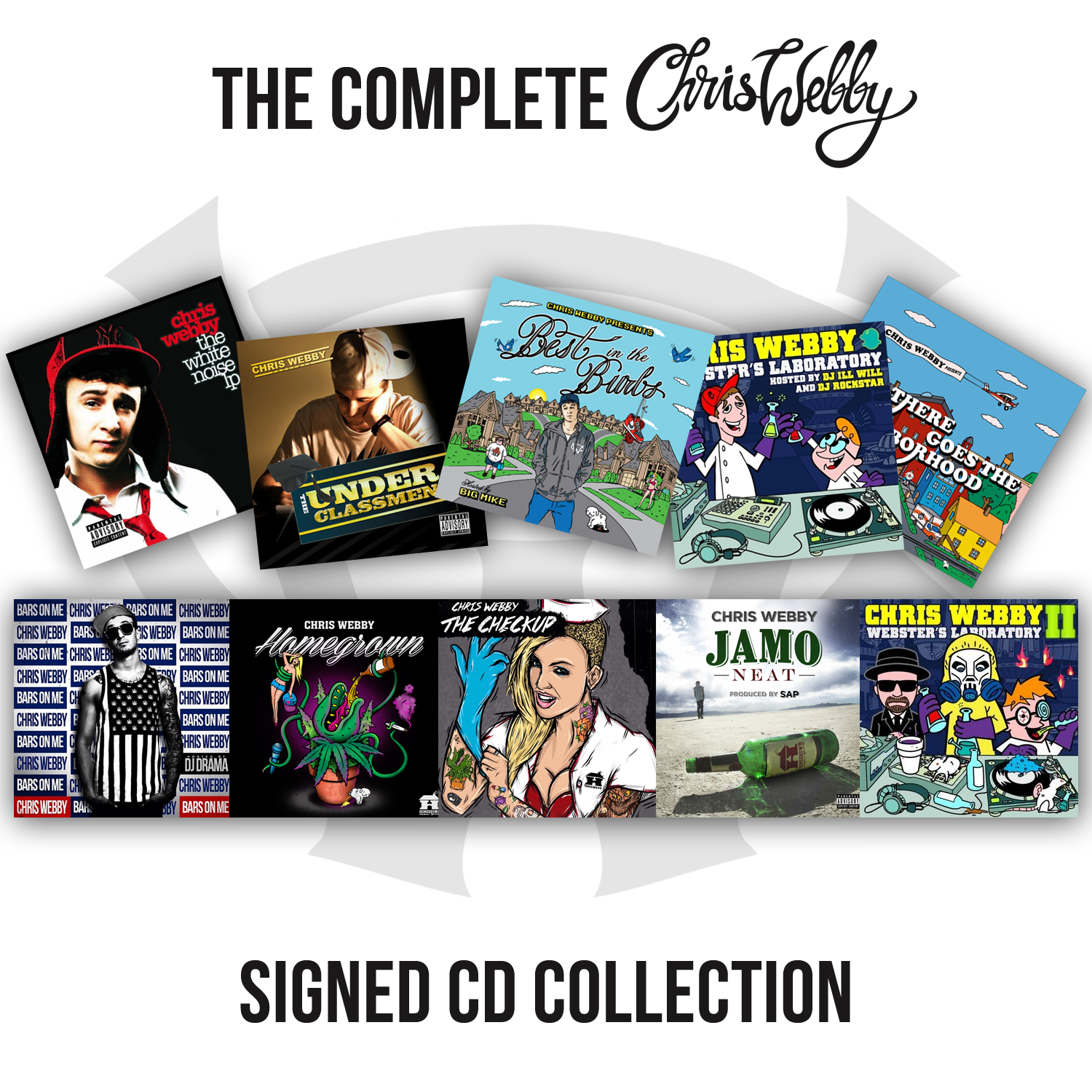 The Complete Chris Webby Signed CD Collection