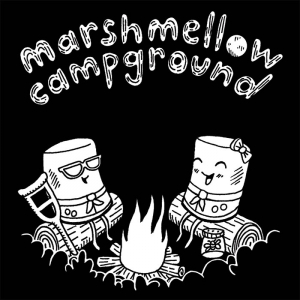 marshmellow campground window decal