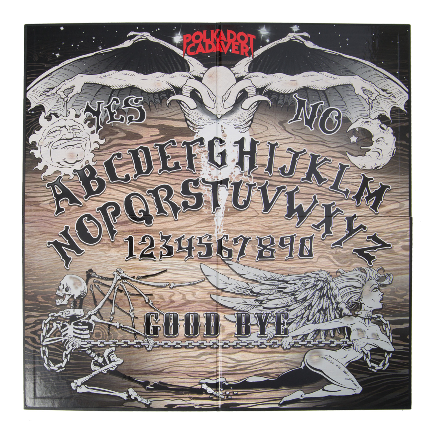 Polkadot Cadaver Folding Ouija Board Board Game Razor To