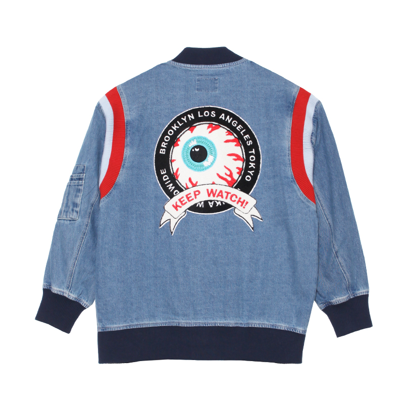 Keep Watch Crest Girl's Denim Jacket
