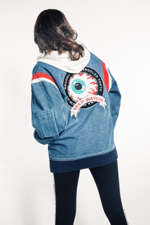 Keep Watch Crest Girl's Denim Jacket