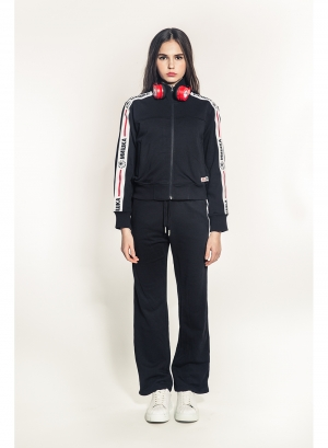 Cyrillic Keep Watch Stripe Women's Jacket