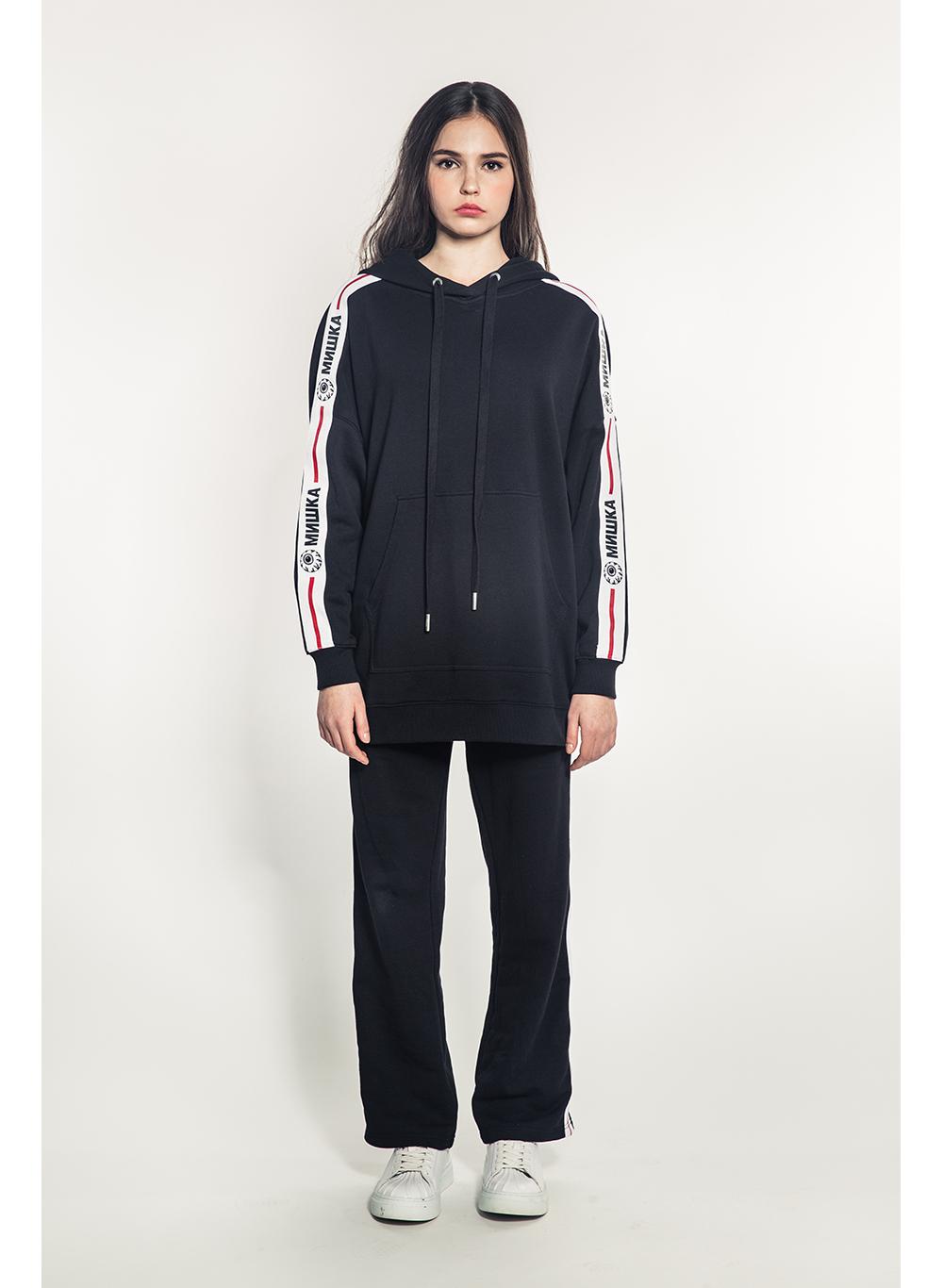Cyrillic Keep Watch Stripe Women's Pullover Hoodie