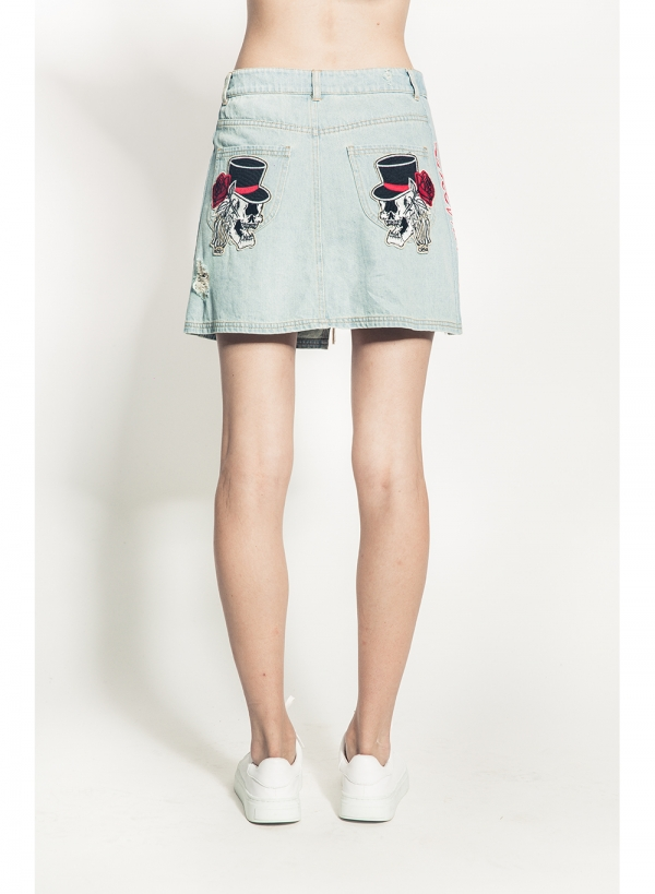 Simon Rose Denim Skirt