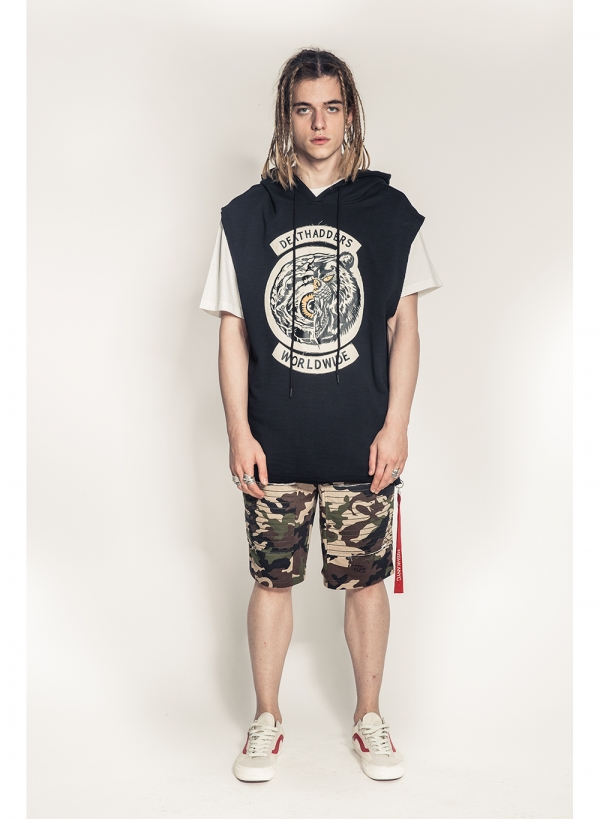 Lamour Split Icons Sleeveless Pullover Hoody