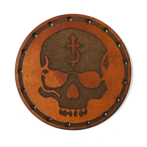 Skull (leather patch)