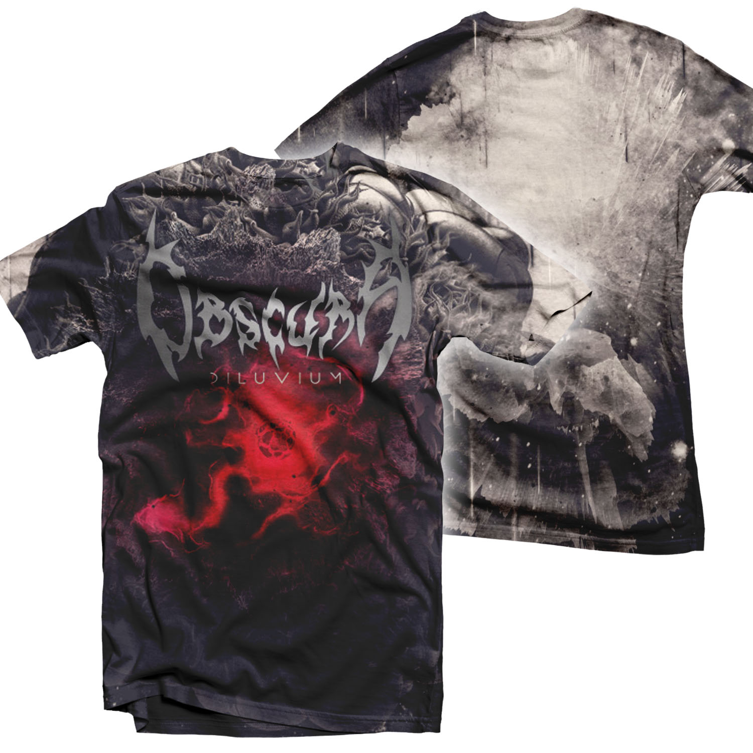 Obscura Diluvium All Over Print T Shirt Relapse Records