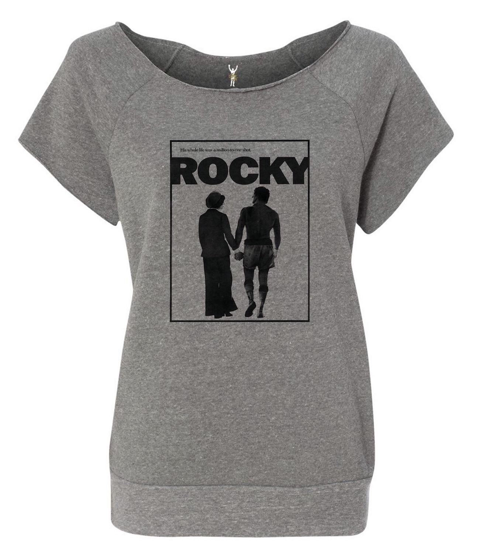 Rocky & Adrian Raw Neck Shortsleeve Sweatshirt