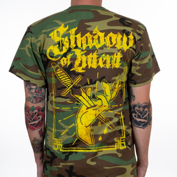 Shadow Of Intent Quot Dagger Camo Quot T Shirt Indiemerchstore