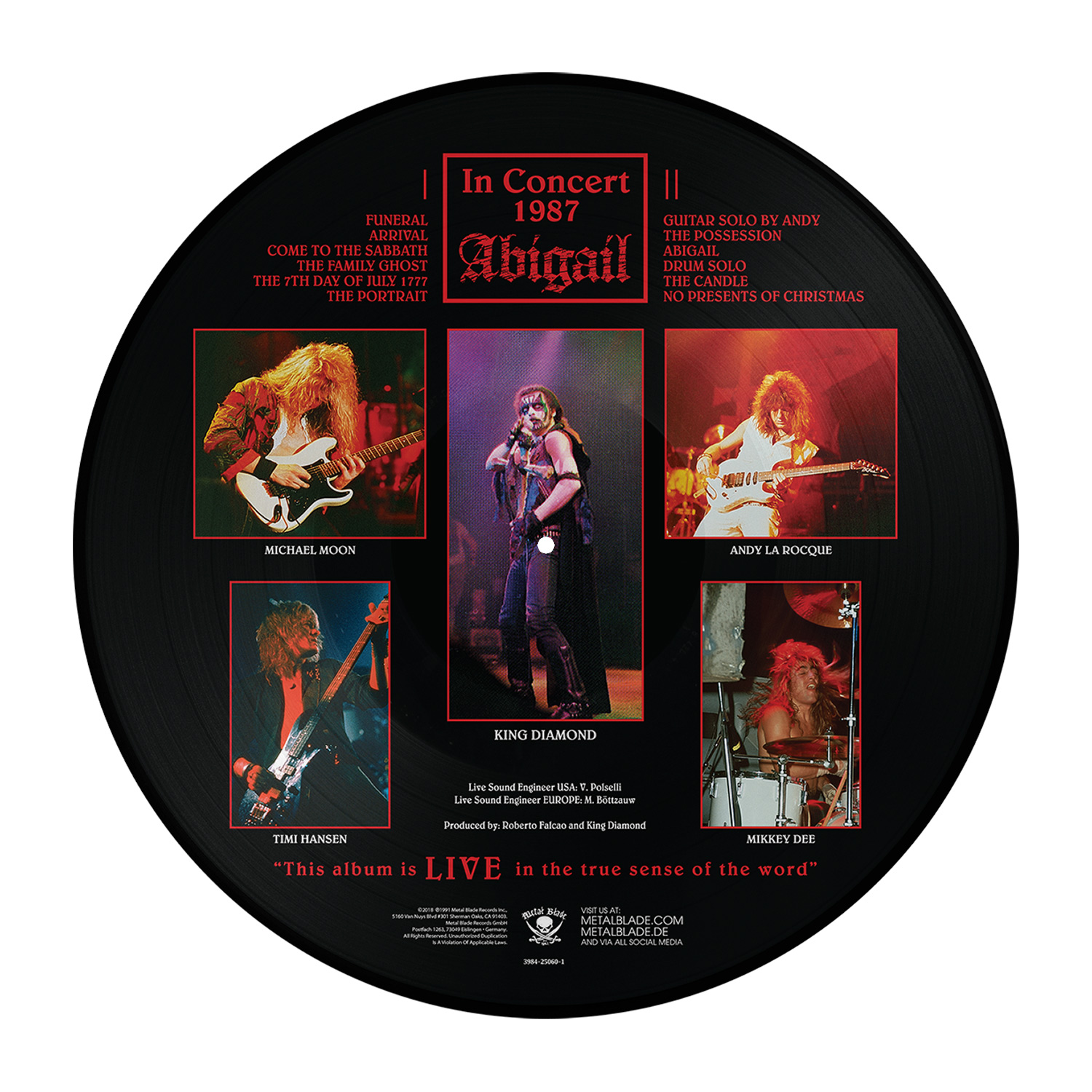 In Concert 1987: Abigail (Picture Disc)