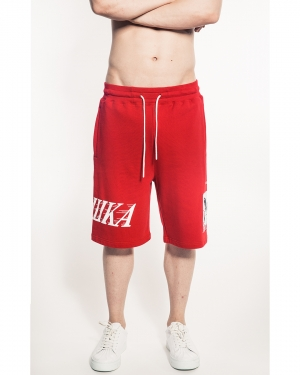 Simon Box Logo Shorts (Red)
