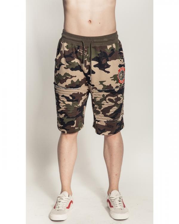 Lamour Split Icons Camo Shorts