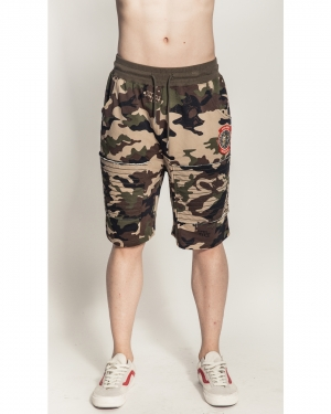Lamour Split Icons Camo Shorts
