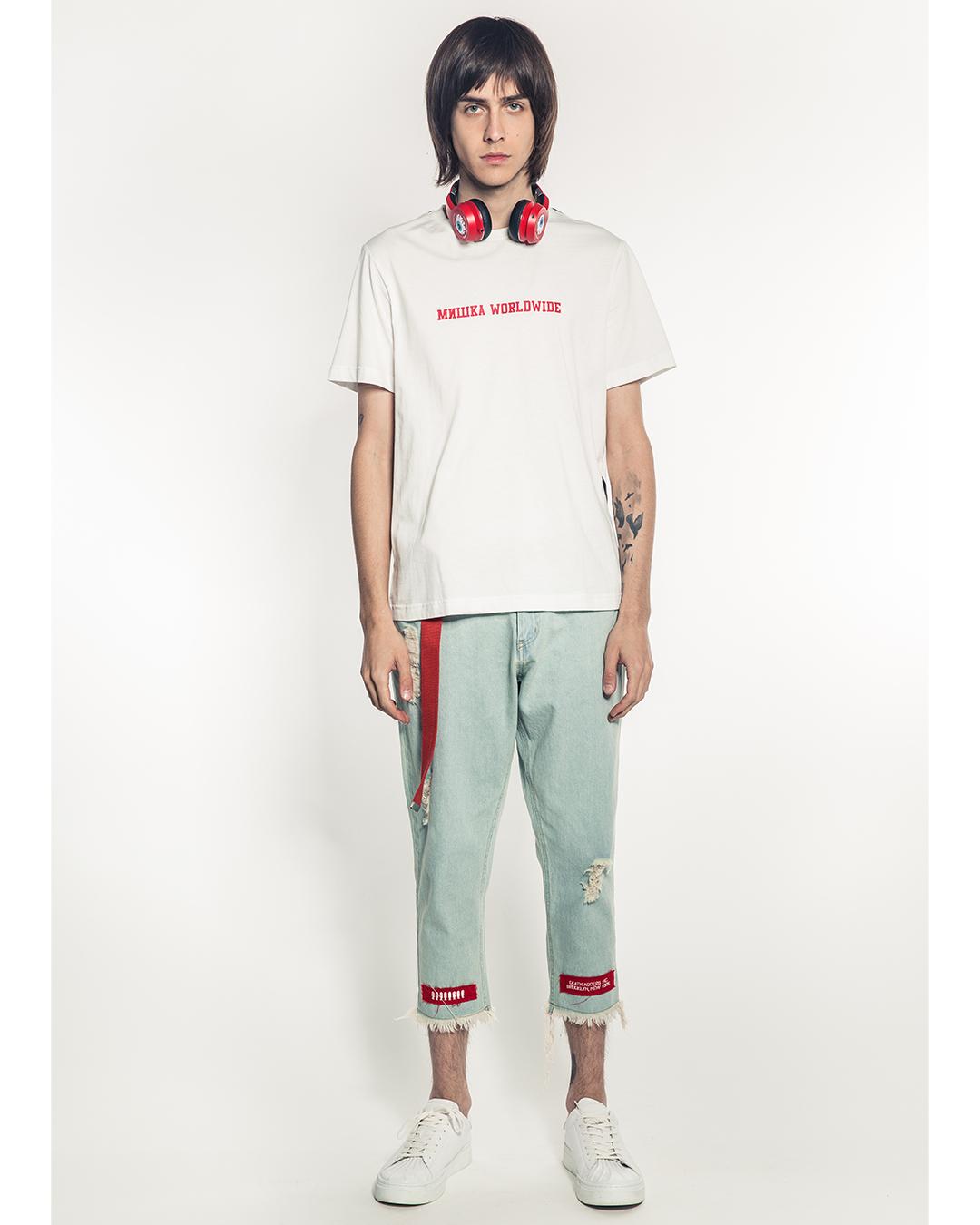 Oversized Split Icons T-Shirt (Off White)