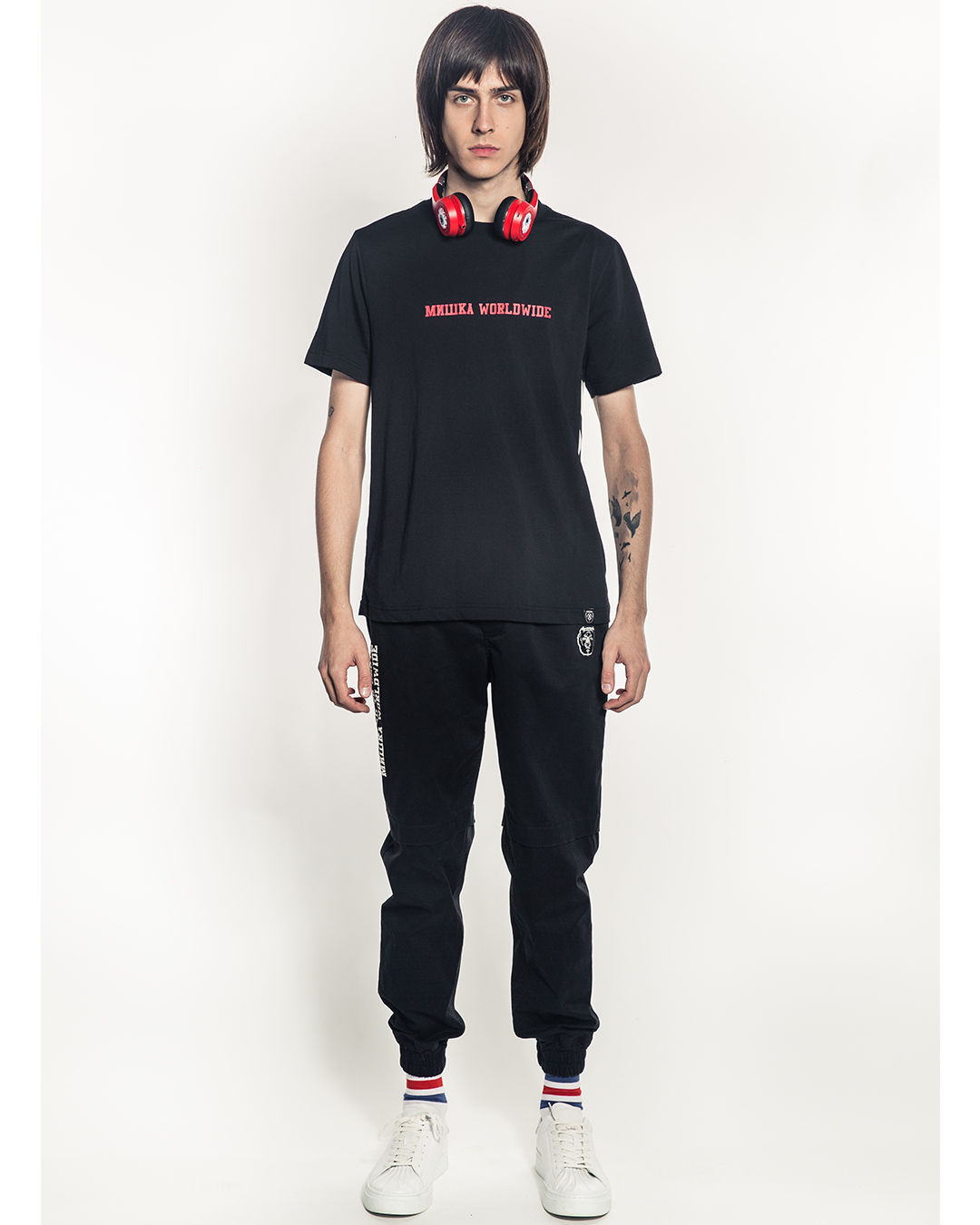Oversized Split Icons T-Shirt (Black)