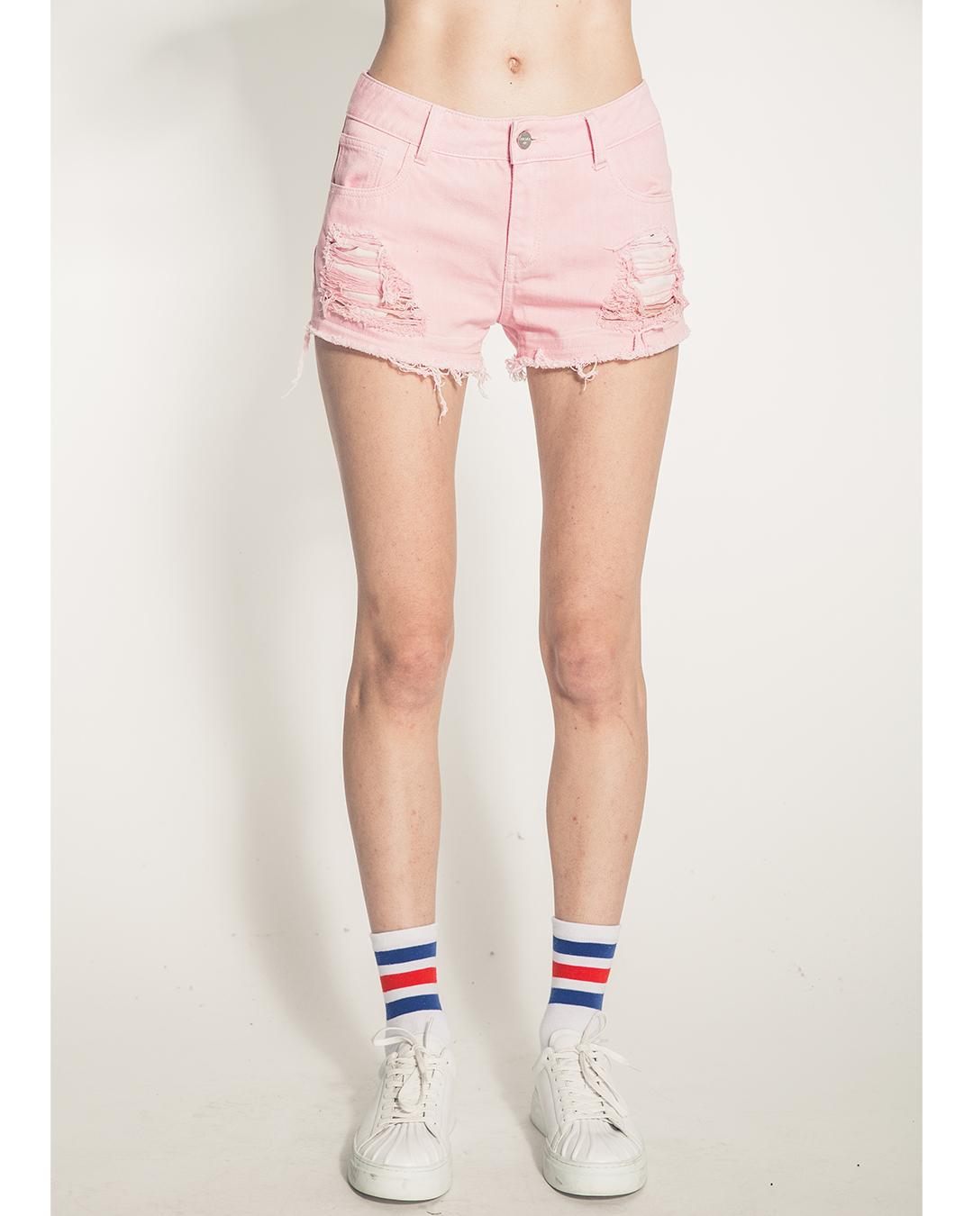 Mistakes Girl's Denim Shorts (Pink)