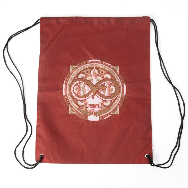 S/T Album Red draw string bag