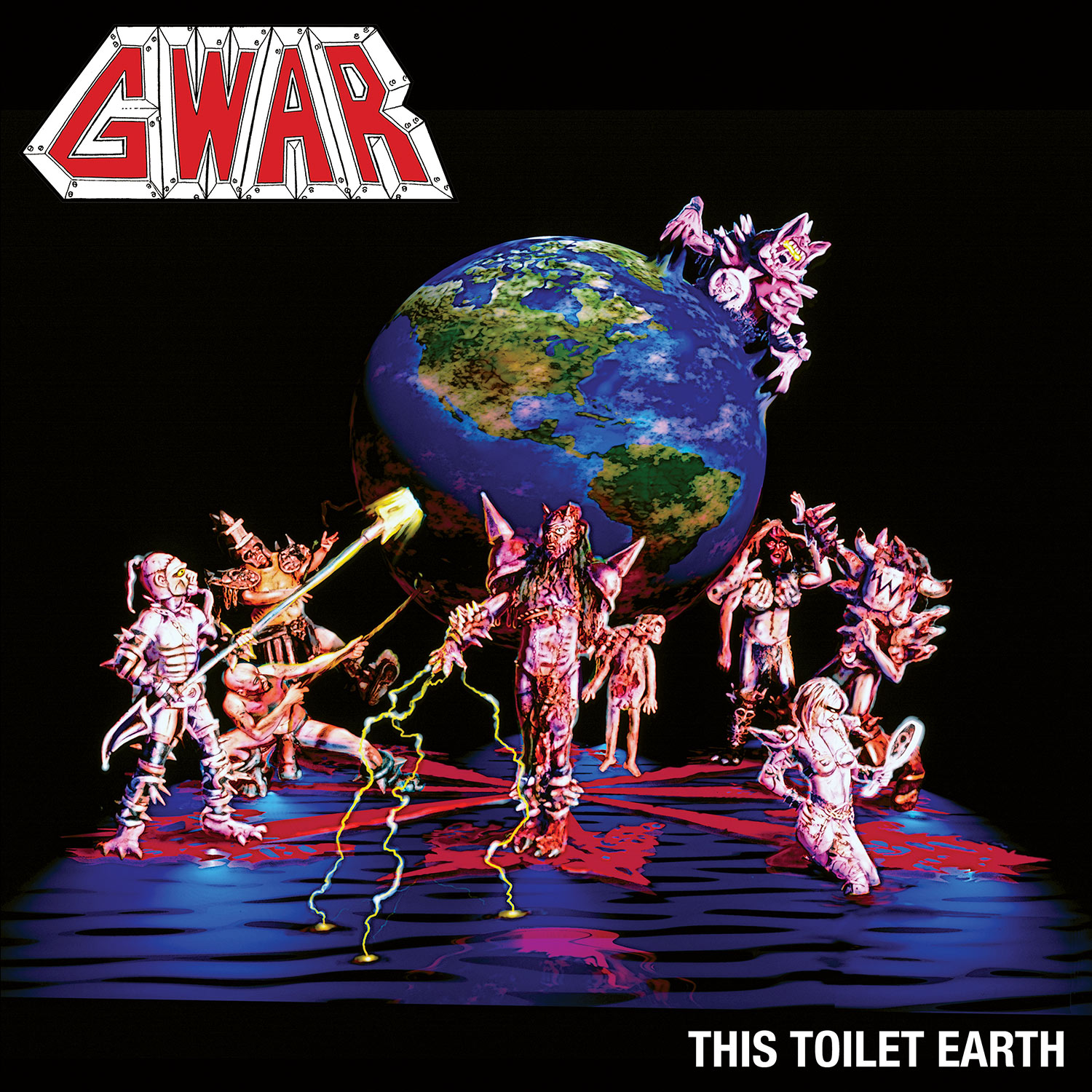 This Toilet Earth (Blue w/ Red Splatter)