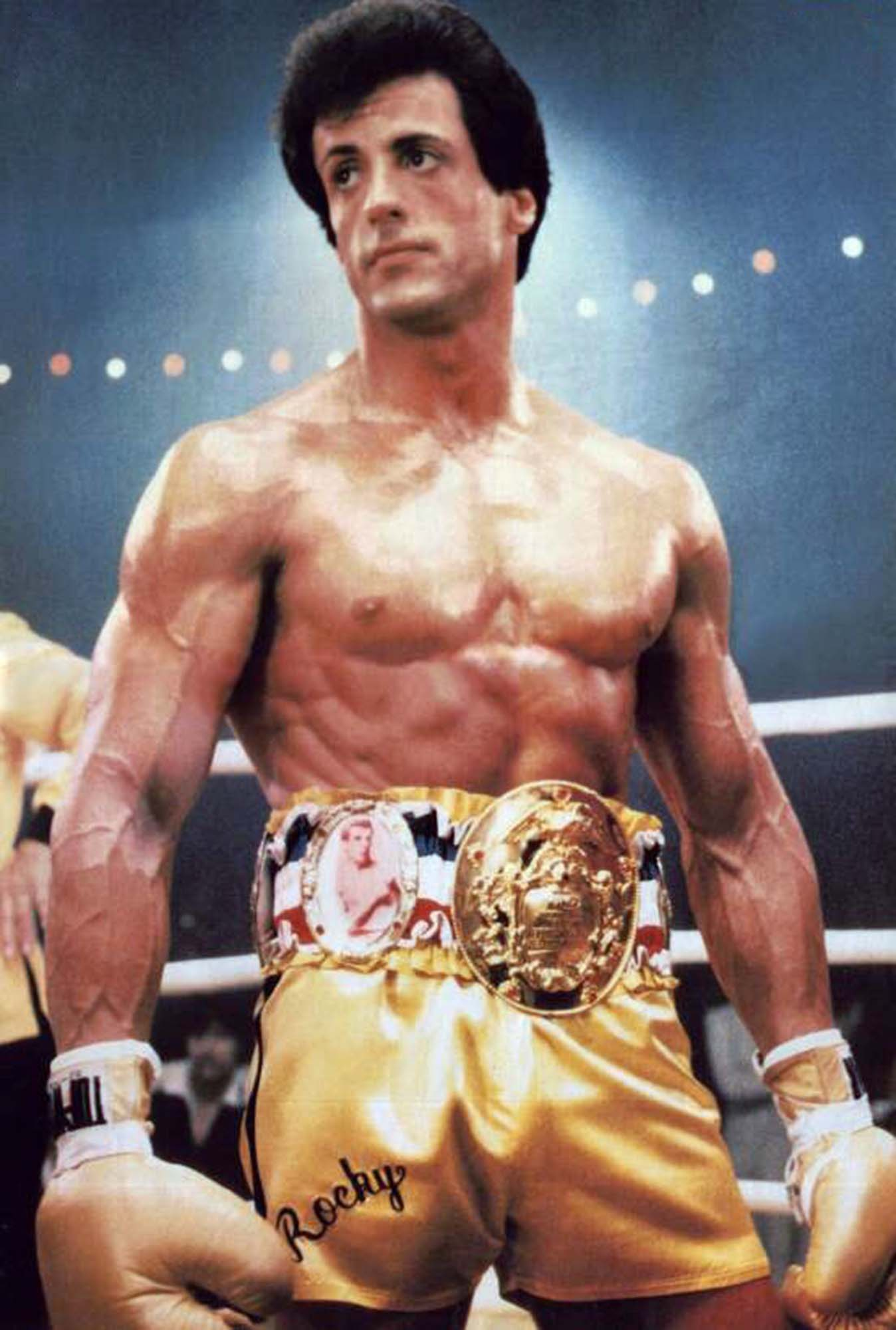 sylvester stallone rocky iii yellow boxing trunks shorts. Black Bedroom Furniture Sets. Home Design Ideas