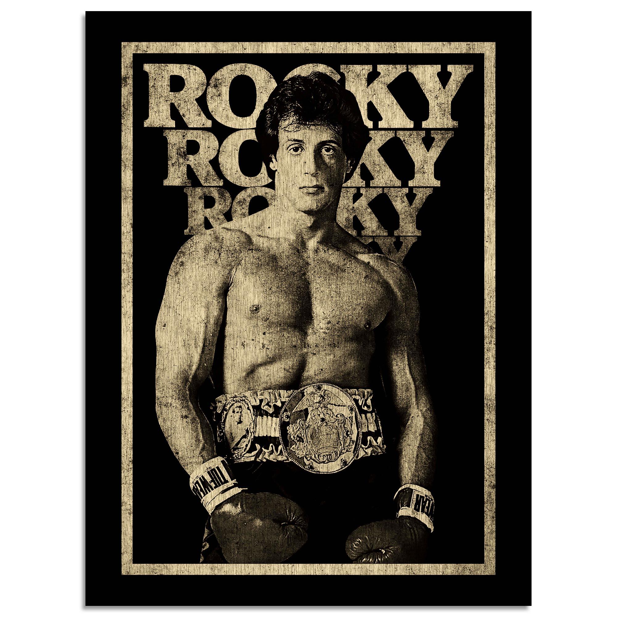 "Rocky III Black & Gold 18"" x 24"" Photo"